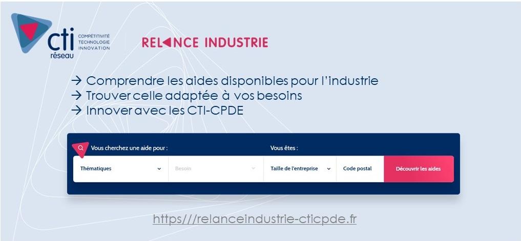 Les CTI et CPDE lancent la plateforme relanceindustrie-cticpde.fr